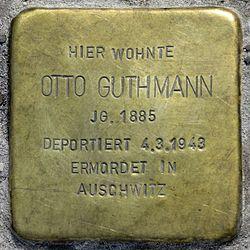 Photo of Otto Guthmann brass plaque
