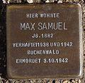 Stolperstein Arnstadt Karl-Marien-Straße 17-Max Samuel.JPG