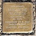 Stolperstein Badensche Str 21 (Wilmd) Margarethe Weisstein.jpg