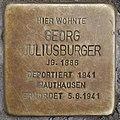 Stolperstein Georg Juliusburger Heinz-Galinski-Straße 1 0090.JPG