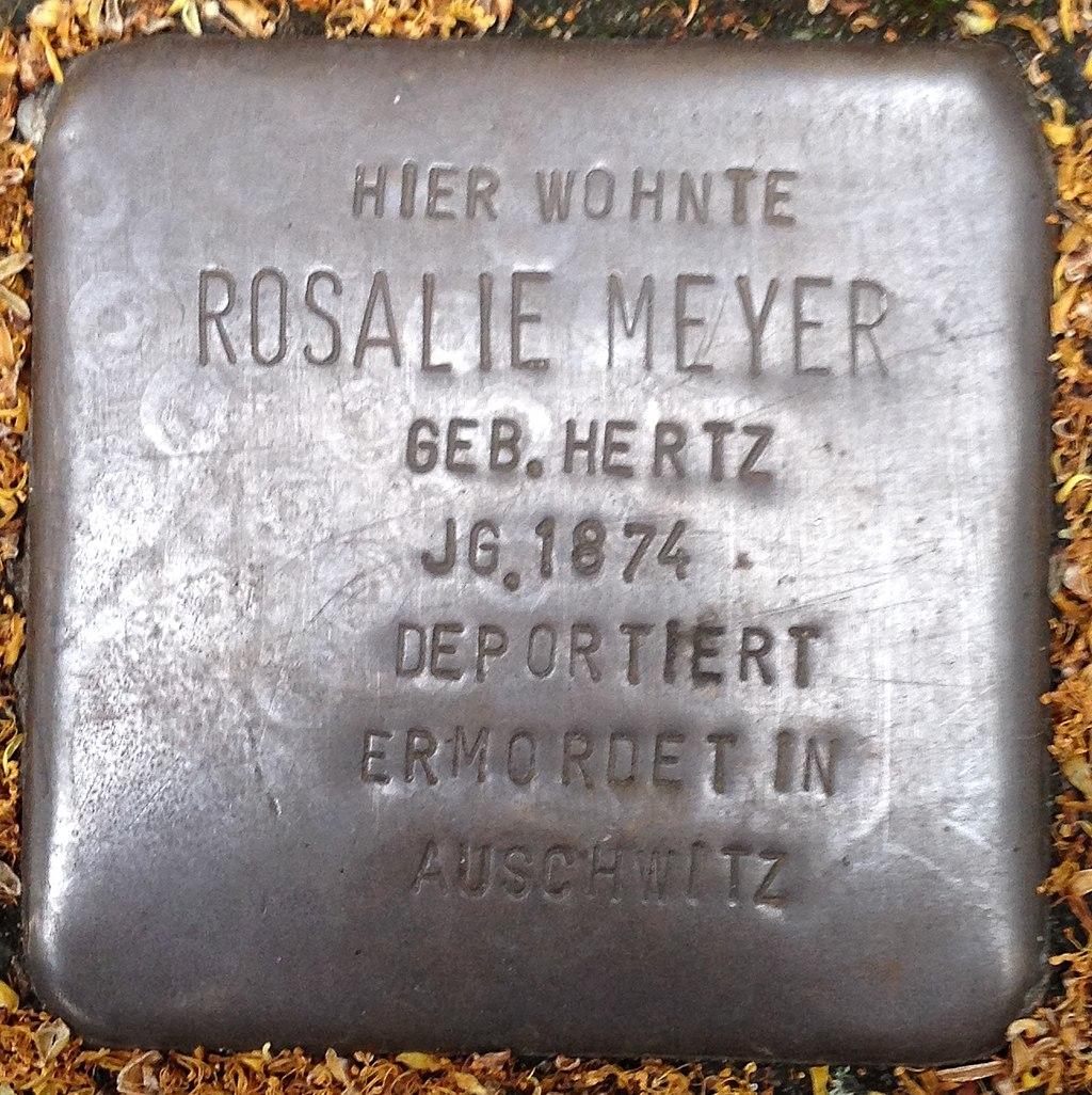 Stolperstein Haltern Recklinghäuserstraße 33 Rosalie Meyer