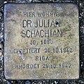 Stolperstein Schleswiger Ufer 5 (Hansa) Julian Schachian.jpg