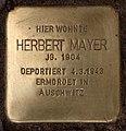 Stolperstein Westfälische Str 70 (Halsee) Herbert Mayer.jpg