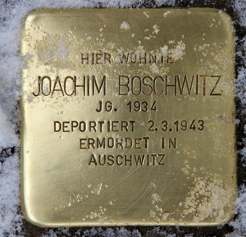 Stolperstein Winsstr 16 (Prenz) Joachim Boschwitz.jpg