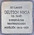 Stolperstein für Miksa Deutsch (Budapest).jpg