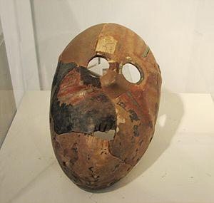 Nahal Hemar - Replica Stone Mask, Nahal Hemar Cave, Pre-Pottery Neolithic B period