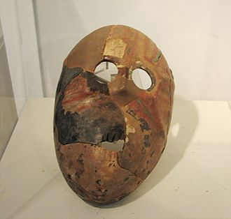 Nahal Hemar - Replica Stone Mask, Nahal Hemar Cave, Pre-Pottery Neolithic B period