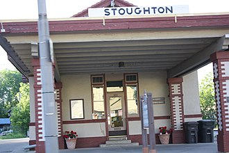 Stoughton, Wisconsin - Image: Stoughton Wisconsin Train Depot Historical Society Chamberof Commerce US51