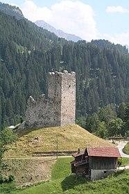 Burg Strassberg - Turm von Nordwesten