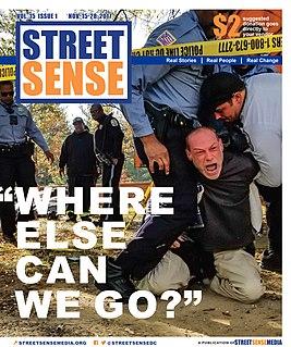 <i>Street Sense</i> (newspaper) newspaper in Washington, D.C., District of Columbia