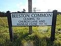 Street Sign, Beeston Common, Sheringham, 29 February 2016.JPG