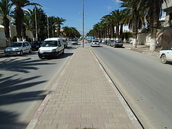 A street of the Tunisian city , Jendouba