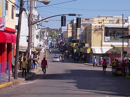 Montego Bay, Jamaica'a second largest city Street in Montigo Bay Jamaica Photo D Ramey Logan.jpg