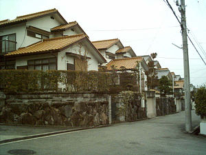 Sanda, Hyōgo - Residential street in Sanda, Hyōgo