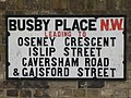 Street sign for Busby Place, NW5 - geograph.org.uk - 1404647.jpg