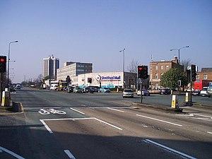 Stretford - Stretford's town centre, showing Stretford Mall in the midground