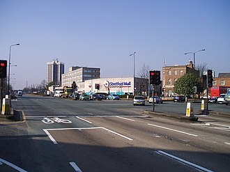 Stretford - Stretford's town centre, showing Stretford Mall in the midground