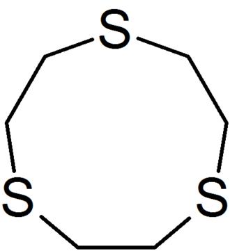 1,4,7-Trithiacyclononane - Image: Structure of 1,4,7 Trithiacyclononane