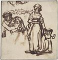 Studies of a Woman and Two Children by Rembrandt, Ackland Art Museum.jpg