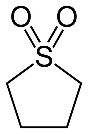 Sulfolane - Image: Sulfolane 2D skeletal