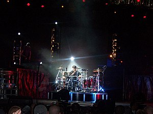 Godsmack - Sully Erna playing a drum solo