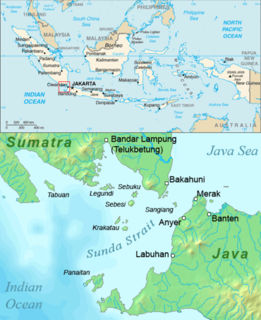 Proposed road and rail bridge in Indonesia