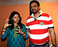 Sunidhi Chauhan, Mukesh Chaudhary at Kailasha Studio (4).jpg