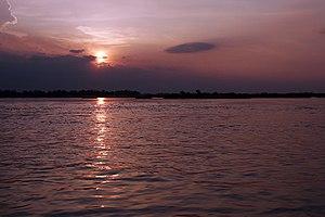 Sunset in Kratie Province