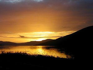 Strachur - Image: Sunset on Loch Fyne Feb 03