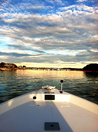Lake Hartwell - Sunset on the Lake with Portman Shoals Marina in the distance.