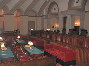 History of the Supreme Court of the United States - The Supreme Court met in windowless chambers in the Capitol from 1819 until 1860. The room has been restored and is now known as the Old Supreme Court Chamber.