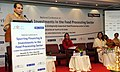 Suresh Prabhakar Prabhu addressing at the National Conference on Spurring, Financing & Investments in the Food Processing Sector, in New Delhi. The Union Minister for Food Processing Industries, Smt. Harsimrat Kaur Badal.jpg