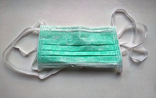 Surgical mask Mouth and nose cover against bacterial aerosols