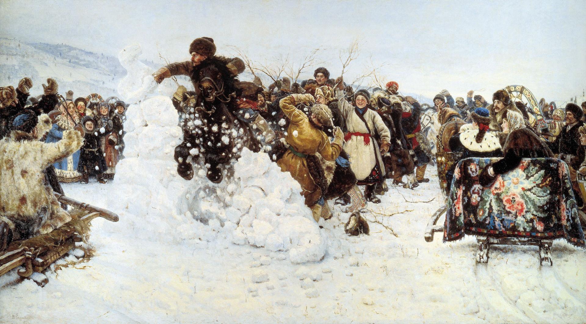 В. И. Суриков Взятие снежного городка, 1891