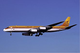 Surinam Airways Flight 764 - N1809E, the aircraft involved in the accident, in February 1989.