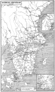 History Of Rail Transport In Sweden Wikipedia - Sweden rail network map