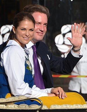 Carl XVI Gustaf of Sweden - A new Swedish double duchy was created for Princess Madeleine (left) in 1982, whereas her husband in 2013 declined to become a Swedish citizen, prince and duke and is called ''Herr'' Christopher O'Neill in Sweden