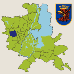Location of Pogodno within Szczecin