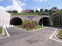 Lado sul do Complexo Viário Túnel Joá Penteado, na Vila Industrial.