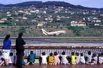 TAP Air Portugal Boeing 737-200 takes off at Funchal Airport.jpg