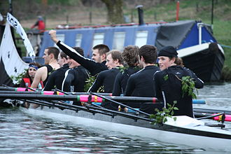 Trinity Hall Boat Club - Trinity Hall Boat Club Men's First boat after bumping Caius to be awarded Blades in Lent Bumps 2009