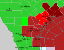 Weather alerts as Tropical Storm Erin makes landfall in Texas