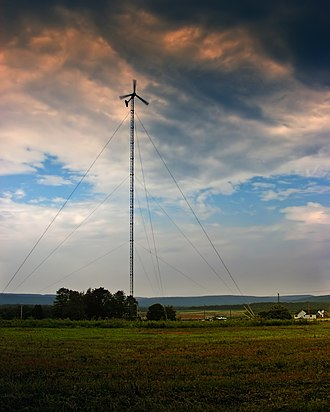 Rush Township, Schuylkill County, Pennsylvania - A wind turbine on Tuscarora State Park in Rush Township
