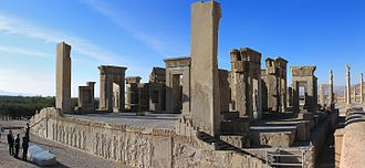 Cavetto - The Tachara palace of Darius I at Persepolis, completed in 486 BC