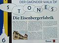 Tag des Denkmals 2012 - Gmünd - Eisenbergerfabrik-Schild.jpg