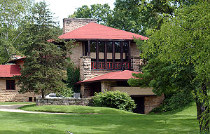 Spring Green, Wisconsin - The Hillside Home School by Frank Lloyd Wright at Taliesin