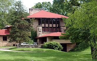 Taliesin (studio) - Wright designed the second Hillside Home School in 1901, alongside an earlier school he designed in 1887.