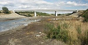Whangaehu River - The State Highway bridge at Tangiwai