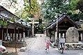 Tatehara Shrine. The south side of the torii.jpg
