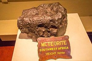 Hoba meteorite - Part of the Hoba meteorite at Tatton Park